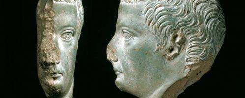 Portrait of Tiberius on cult vessel