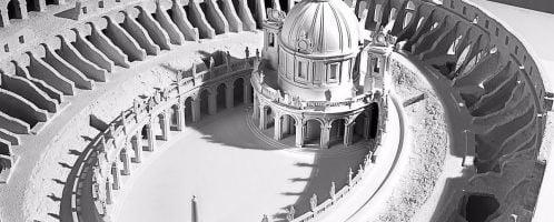 Projekt budowy kościoła na arenie Koloseum