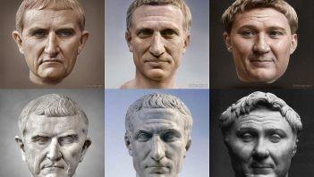 Rekonstrukcja wizerunków pierwszych triumwirów
