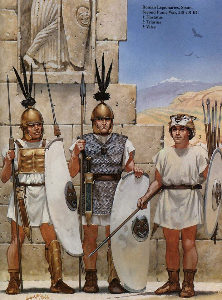 Rysunek ukazujący rzymskich żołnierzy w czasie II wojny punickiej