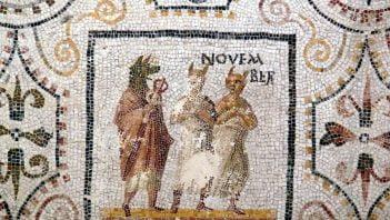 Rzymska mozaika ukazująca listopad