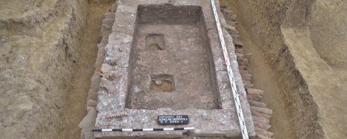 Roman brick tomb in Serbia
