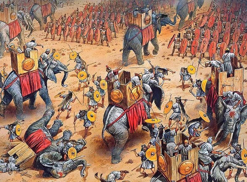 Słonie w bitwie pod Zamą