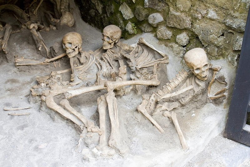 Skeletons in Herculaneum