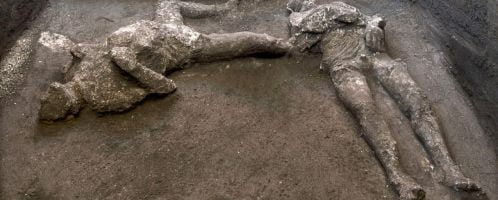 Bodies of owner and slave were discovered in Pompeii