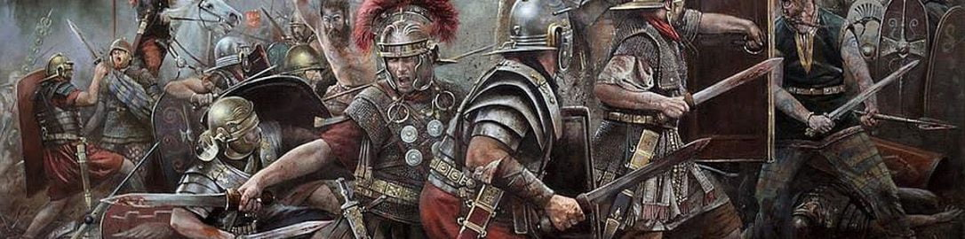 The fight of the Romans with the barbarians