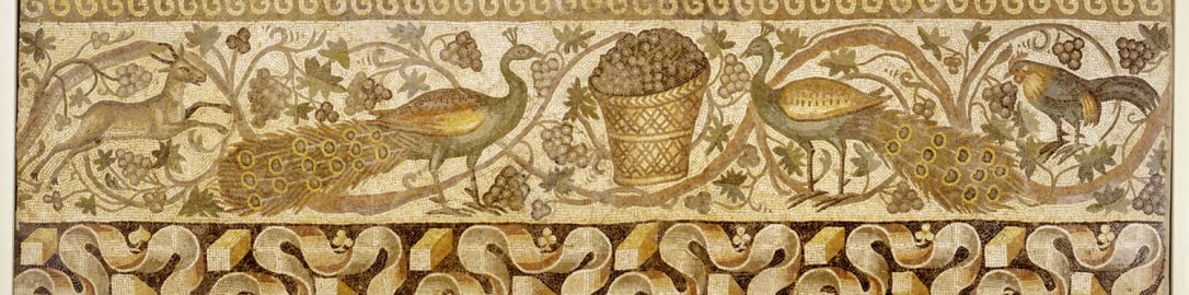 Wonderful mosaic showing peacocks
