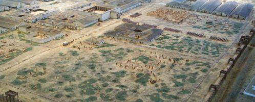 Model of Roman camp in Haltern