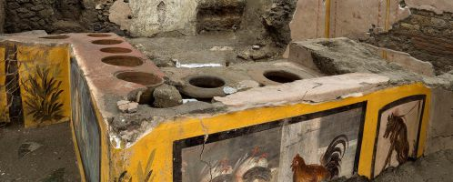 Ancient food bar discovered in Pompeii