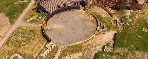 Pozostałości rzymskiego amfiteatru w Serbii