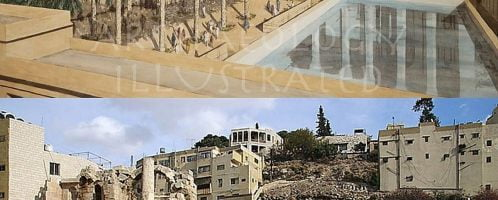Reconstruction of nymphaeum in Amman
