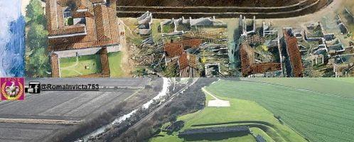 Reconstruction of Roman fort Richborough