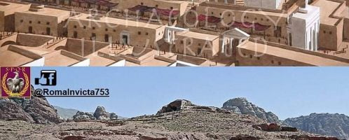 Reconstruction of temple in Petra