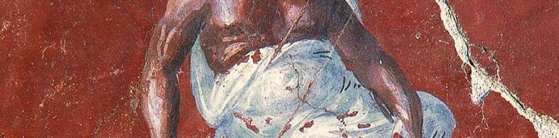 Socrates on Roman fresco