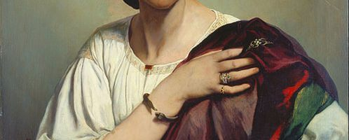 Anselm Feuerbach, Half Length Portrait of a Roman Woman