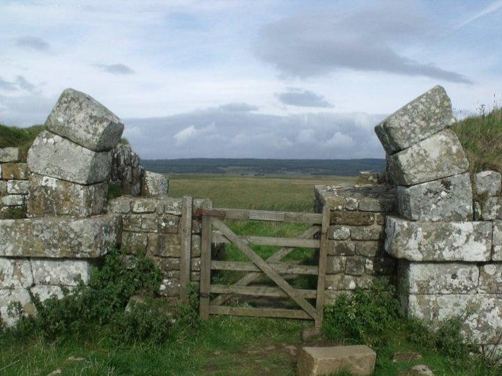 The gate in Hadrian's wall