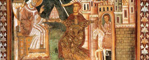 Konstantyn przekazuje władzę imperialną Sylwestrowi