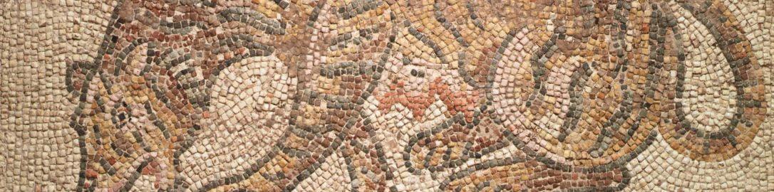 Mozaika ukazująca tygrysicę i jej młode