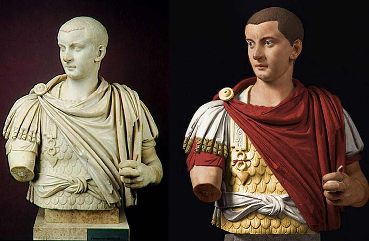 Rekonstrukcja popiersia cesarza Gordiana III