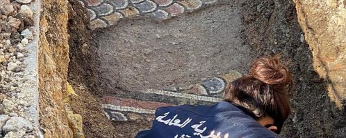 Roman mosaic was discovered in Lebanon
