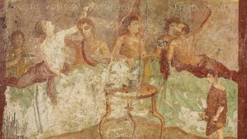 Exaggerated feasting and vomiting in Roman world