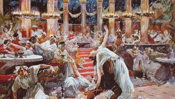 """""""Uczta Trymalchiona"""" - dzieło ukazujące bogactwo uczt rzymskich"""