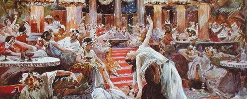 Ulpiano Checa y Sanz, Banquet in Nero's Palace