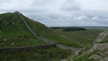Embankment on Hadrian's Wall
