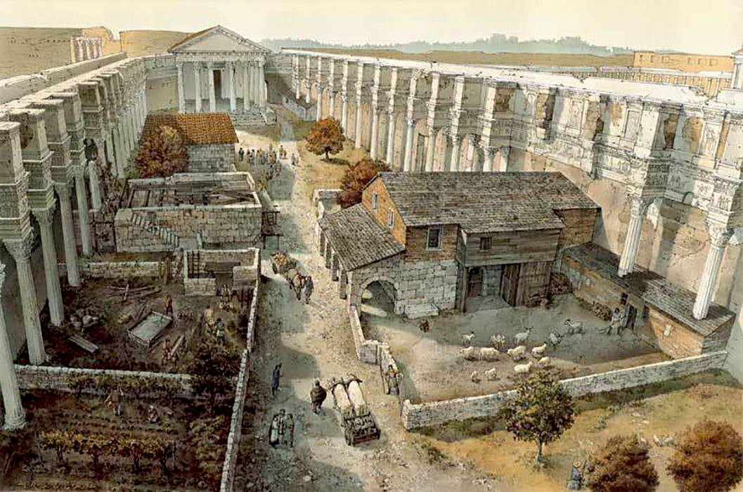 Visualization showing the Nerva Forum in the 9th century