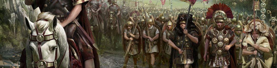 Julius Caesar at the head of the legion