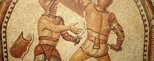 Mozaika ukazująca gladiatorów z Nimes