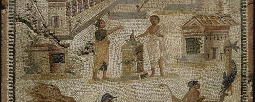 Mosaic showing an offering