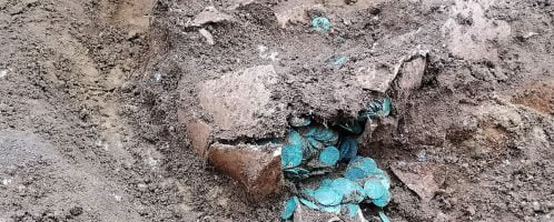 Vessel with coins discovered in Hungary