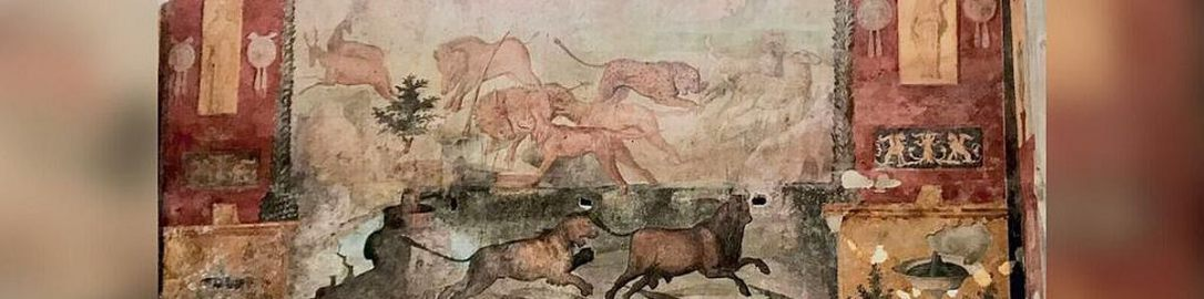 Renovated fresco from Casa dei Ceii