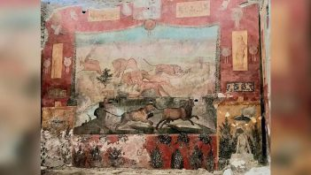 Renovation of one of oldest Roman frescoes was completed