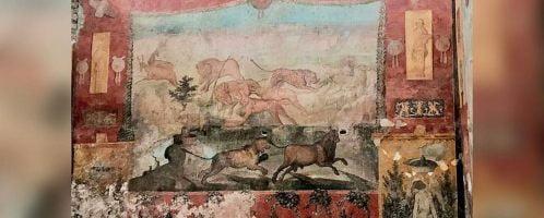 Odnowiony fresk z Casa dei Ceii