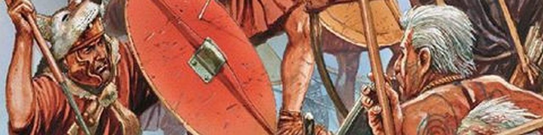 Żołnierze rzymscy z okresu późnej Republiki atakują umocnienia barbarzyńskie