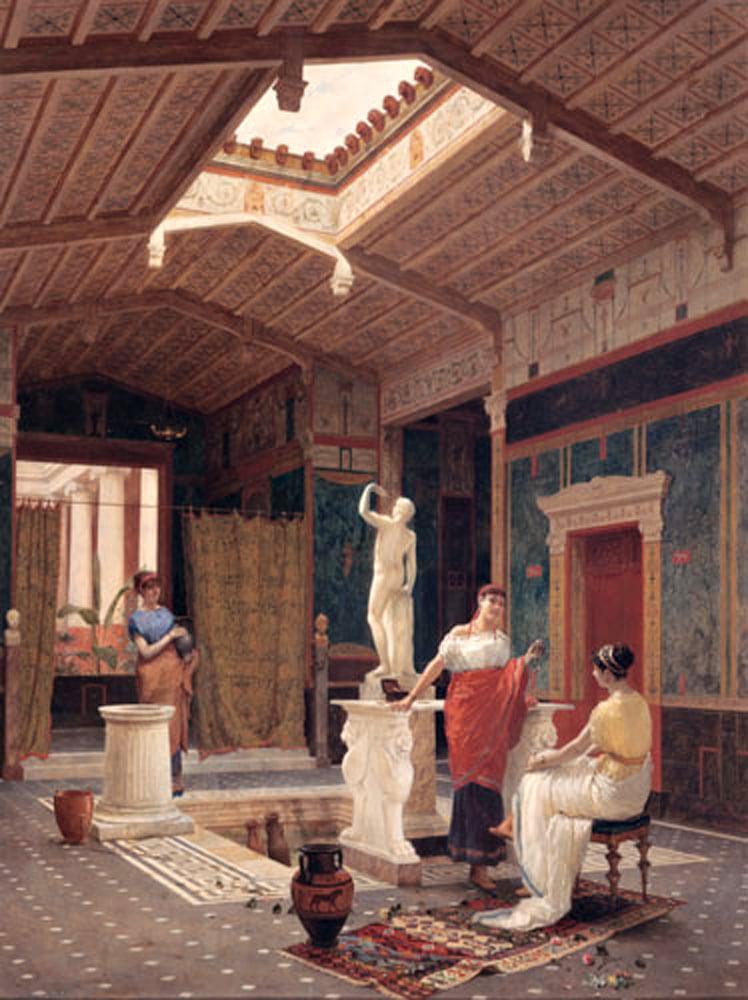 Pompejańskie wnętrze, Luigi Bazzani