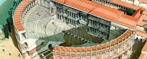 Rekonstrukcja rzymskiego teatru w Tuluzie