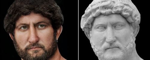 Reconstruction of image of Hadrian