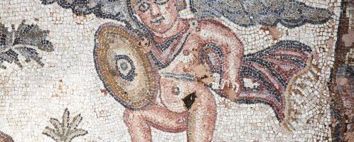 Rzymska mozaika ukazująca Amora