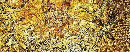 Rzymska mozaika ukazująca greckiego poetę Alkmana
