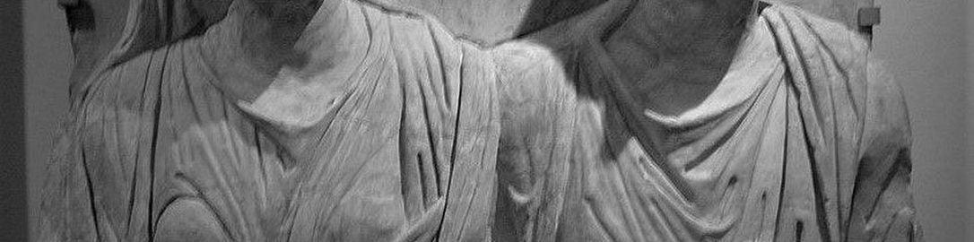 Rzymska rzeźba nagrobna Klaudiusza Agathemerusa i jego żony