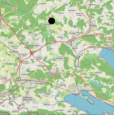 Rzymska willa w Eigeltingen na mapie