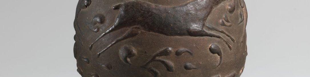 Rzymski kubek z jeleniem
