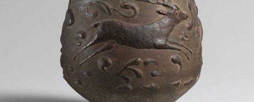Roman mug with deer