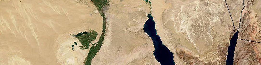 Nil na zdjęciu satelitarnym