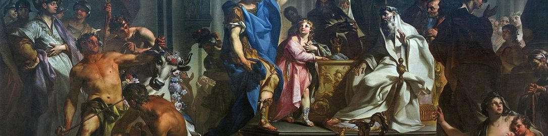 Painting by Claudio Francesco Beaumont, Hannibal swearing hatred of the Romans (painting from 1730), Musée des beaux-arts de Chambéry, France