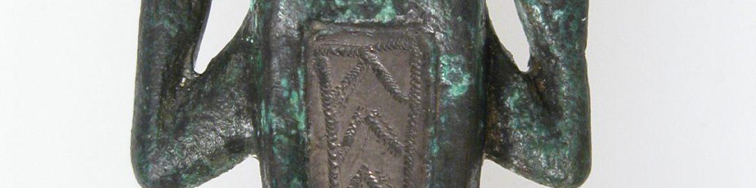 Rzymska broszka w kształcie żaby