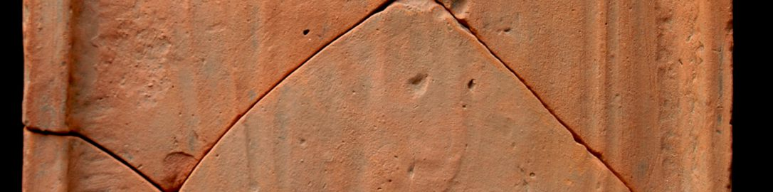 Roman tile with paw prints